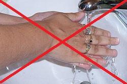 химический ожог нельзя промывать водой